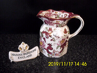 Masons Ironstone Red Mandalay Pattern Large Hydra Jug
