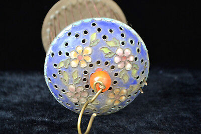 Collectible Chinese Old Cloisonne Handwork Exquisite Flowers Antique Bird Cage