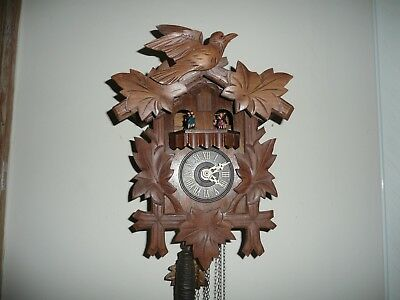 Vintage, Triple Weight, Black Forest, Musical Cuckoo Clock. V G Cond & Working.