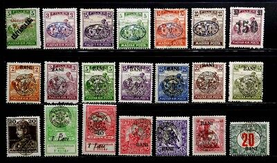 Hungary, Romanian Occupation: 1919-20 Classic Era Stamp Collection Mostly Unused