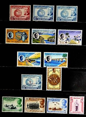 Iraq: 1956-8 Unused Stamp Collection Of Complete Sets