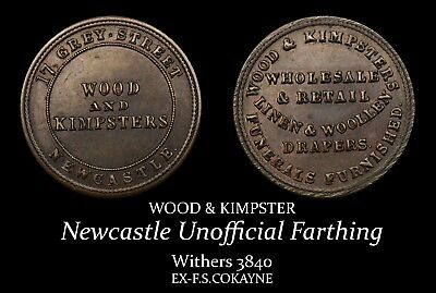 Wood & Kimpster, Newcastle Unofficial Farthing | ex-Cokayne Collection