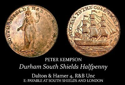 Durham South Shields Conder Halfpenny D&H 4, R&B Unc