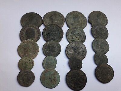 Beautiful Lot Of 20 Ancient Roman Coins Uncleaned