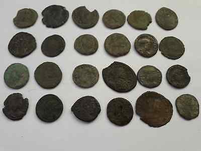 Lot Of 24 Ancient Roman Coins  Uncleaned