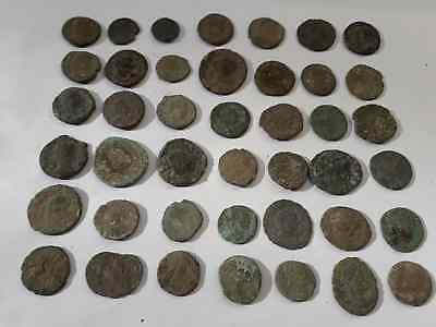 Lot Of 42 Ancient Roman Coins Uncleaned Medium Qualyti