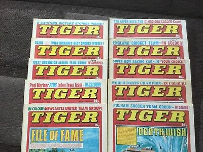 10 x Tiger Comics 1981 & 1982 .  All issue dates in photos