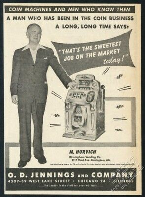 1946 Jennings Chief slot machine photo vintage trade print ad 6