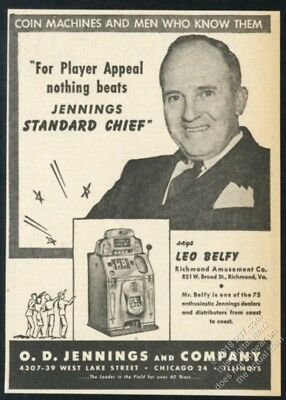 1946 Jennings Chief slot machine photo vintage trade print ad 3
