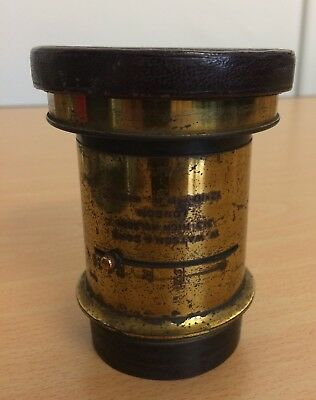 ORIGINAL BRASS CAMERA LENS BY WATSON AND SONS LONDON,  1980s?