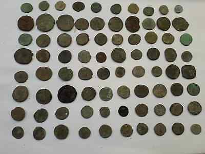 Lot Of 80 Ancient Roman Coins Uncleaned Medium Qualyti