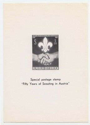 Scouts Austria 1962 imperf. 50 years of Scouting in Austria