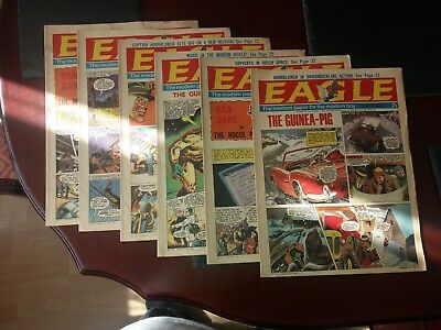 Eagle comics Volume 20 1969, 6 comics in Very Good condition, No.s 1 to 6.