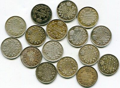Canada 5 Cents Silver lot of (16)  coins  lotsep4611
