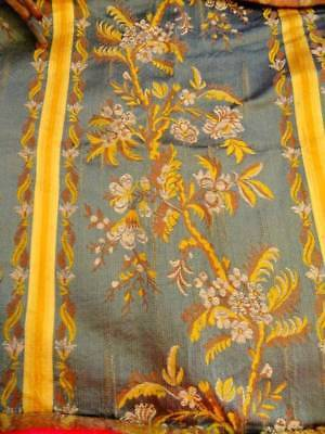 A Beautiful 19th Century Charles Fridrich Paris-Nancy Silk Lampas Panel