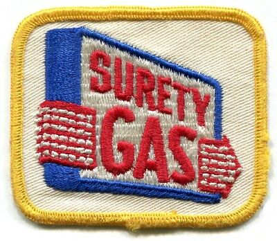 Surety Gas Co Patch Oil Gasoline Petrol Race Car Driver Tires Service Station
