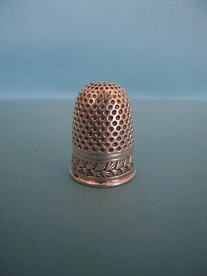 Antique French  Sterling Silver Thimble -circa 1809-1819 Paris