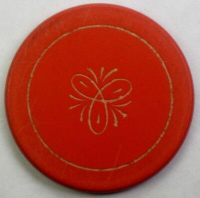 Pedal Design previously uncoded Antique Gambling Chip c1900 Antique Poker Chip