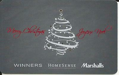 Christmas Mint Gift Card From Winners Canada Bilingual # 2 No Value