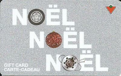 Noel Mint Gift Card From Canadian Tire Canada Bilingual 09/08 No Value