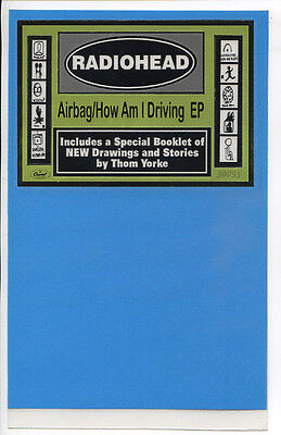 RADIOHEAD Airbag/How Am I Driving promo BIN CARD 1998 Capitol