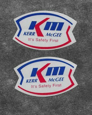 2 Kerr McGee coal, oil, gas company stickers