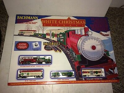 Vintage Mint Bachmann N Gauge White Christmas Express Train Set Complete In Box