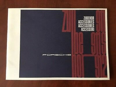 1966 Accessories Booklet Zubehor Brochure Catalog for 1967 911 911S & 912