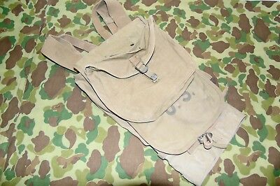 ORIG WWII M-1928 HAVERSACK & MEATCAN POUCH  DATED 1942 CRAWFORD AUSTIN Co TEXAS