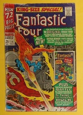 Fantastic Four King Size  Annual # 4 , Thing V Hulk, First Appearance Quasimodo