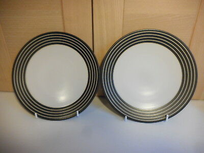 Denby Intro Stripes Black 8 Inch Plates First Quality