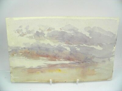 Antique early 20th century English School watercolour painting sky study