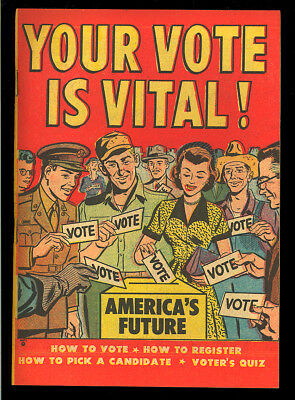 Your Vote is Vital! #nn High Grade Harvey File Copy Giveaway Comic 1952 VF