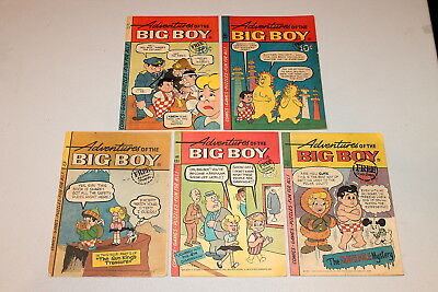 Adventures of the Big Boy #101, 106, 117, 121, 141 GROUP (5 Comics) 1965 VG+