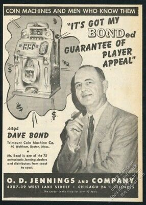 1946 Jennings Chief slot machine photo vintage trade print ad 4