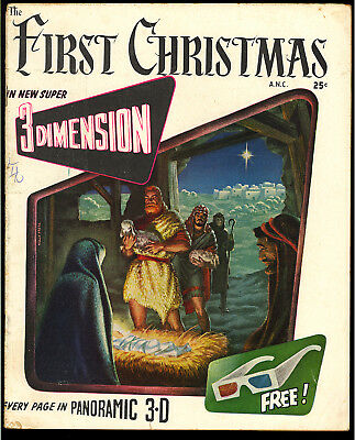First Christmas #1 Scarce 3-D Golden Age Fiction House Comic 1953 VG+