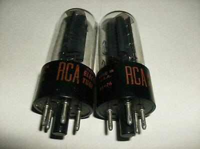 Lot Of 2 - 5Y3 Gt Rca Radio Tubes - Tv-7 D/u Tested   *   💎