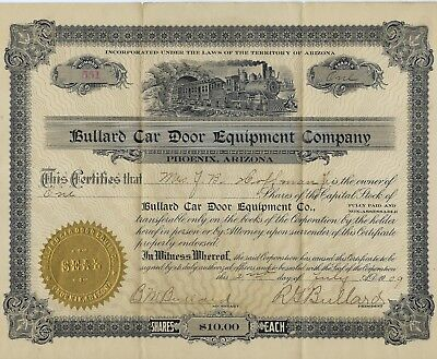 1909 Phoenix Arizona TERRITORY Birmingham Alabama BULLARD Car Door Equipment Co.