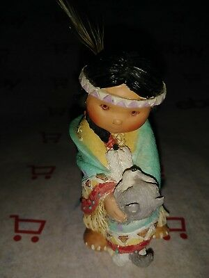 Native American Indian Girl Figurine  1994 Dance with the Web