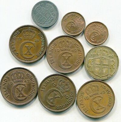 Iceland large lot of vintage coins  lotsep4690