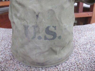 VTG 1943  U.S. US MILITARY _ ARMY WWII Smith MFG. _ CANVAS WATER BAG/ TOOLS !
