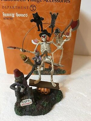 "Department 56 Snow Village Halloween  ""FUNNY BONES""   #4030780"