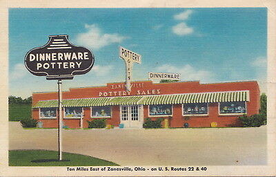 ROADSIDE ZANESVILLE OH POTTERY SALES at routes 22 & 40 Dinnerware Pottery Gifts!