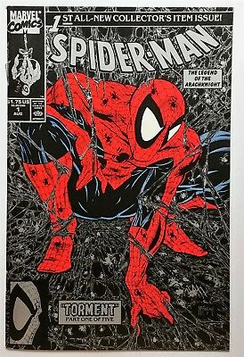 Spider-Man #1 (Aug 1990, Marvel) Silver cover FN-