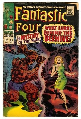 Fantastic Four #66 (1967) VG- New Marvel Silver Bronze Collection