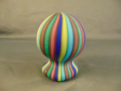 """Solid glass Paperweight Hot Air Balloon multi colored 4"""" high unique design art"""