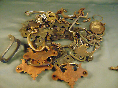 28 Antique metal drawer handles copper hinges screws furniture hardware crafted
