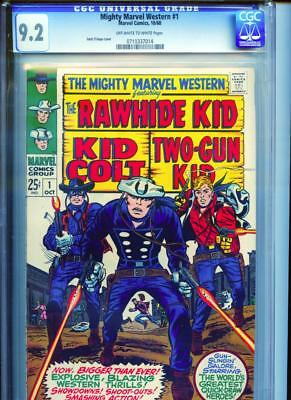 Mighty Marvel Western #1 CGC 9.2 OW/White Pages