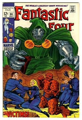 Fantastic Four #86 (1969) VF- New Marvel Silver Bronze Collection