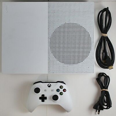 Microsoft Xbox One S - 500GB White Console - With Cables & Controller